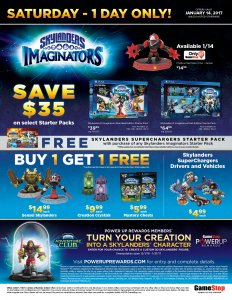 GameStop Skylanders Day - January 14, 2017